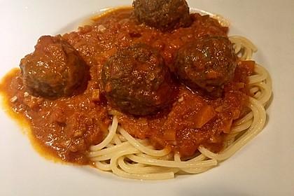 Albertos Spaghetti mit Meatballs 18