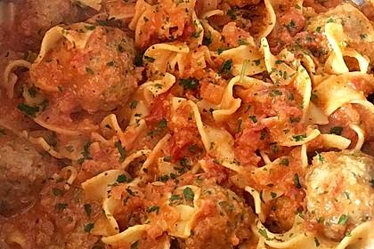 Albertos Spaghetti mit Meatballs 17