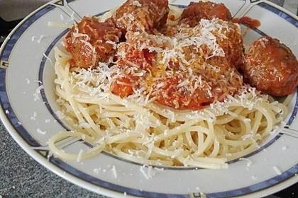 Albertos Spaghetti mit Meatballs 32