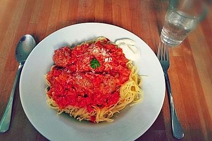 Albertos Spaghetti mit Meatballs 37