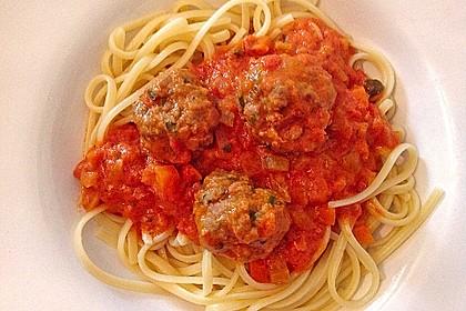 Albertos Spaghetti mit Meatballs 19