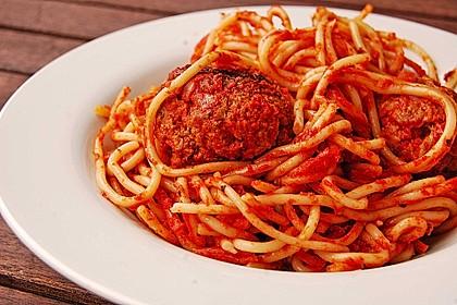 Albertos Spaghetti mit Meatballs 20