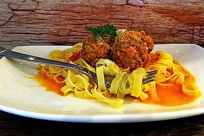 Albertos Spaghetti mit Meatballs 4