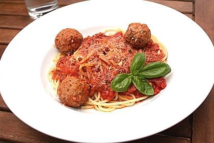 Albertos Spaghetti mit Meatballs 6