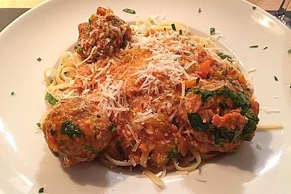 Albertos Spaghetti mit Meatballs 15