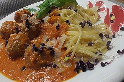 Albertos Spaghetti mit Meatballs 8