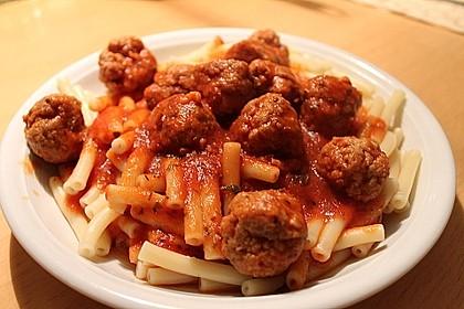 Albertos Spaghetti mit Meatballs 14
