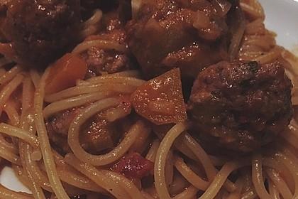 Albertos Spaghetti mit Meatballs 34