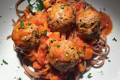 Albertos Spaghetti mit Meatballs 9