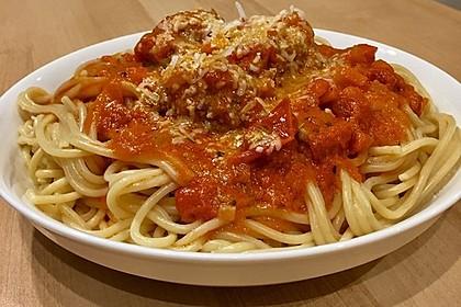 Albertos Spaghetti mit Meatballs 23