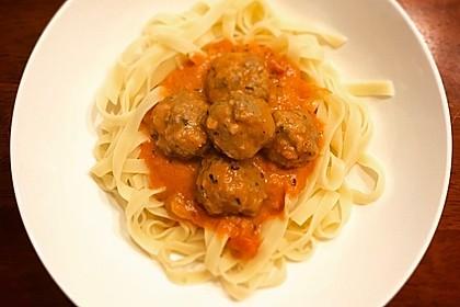 Albertos Spaghetti mit Meatballs 16