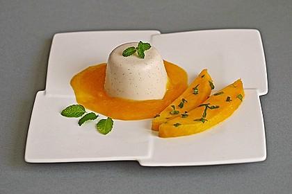 Kokos Panna cotta mit marinierten Mangos 1