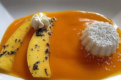 Kokos Panna cotta mit marinierten Mangos 4