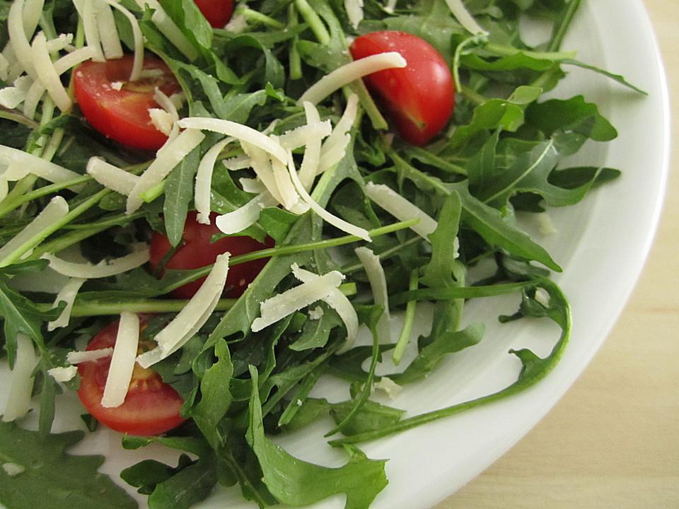 tomaten rucola salat mit parmesan rezept mit bild. Black Bedroom Furniture Sets. Home Design Ideas