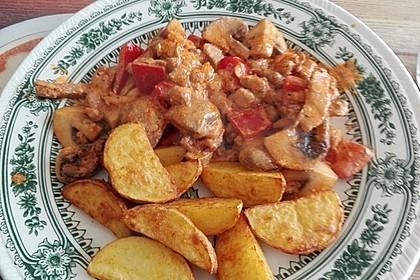 Gyros Spezial überbacken mit Paprika in Metaxasoße 17
