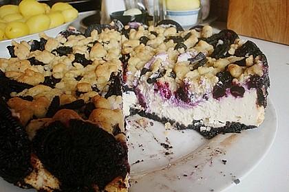 Oreo Blueberry Cheesecake