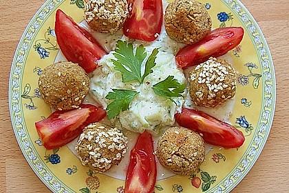 Schnelle Falafel in Pitabrot 3