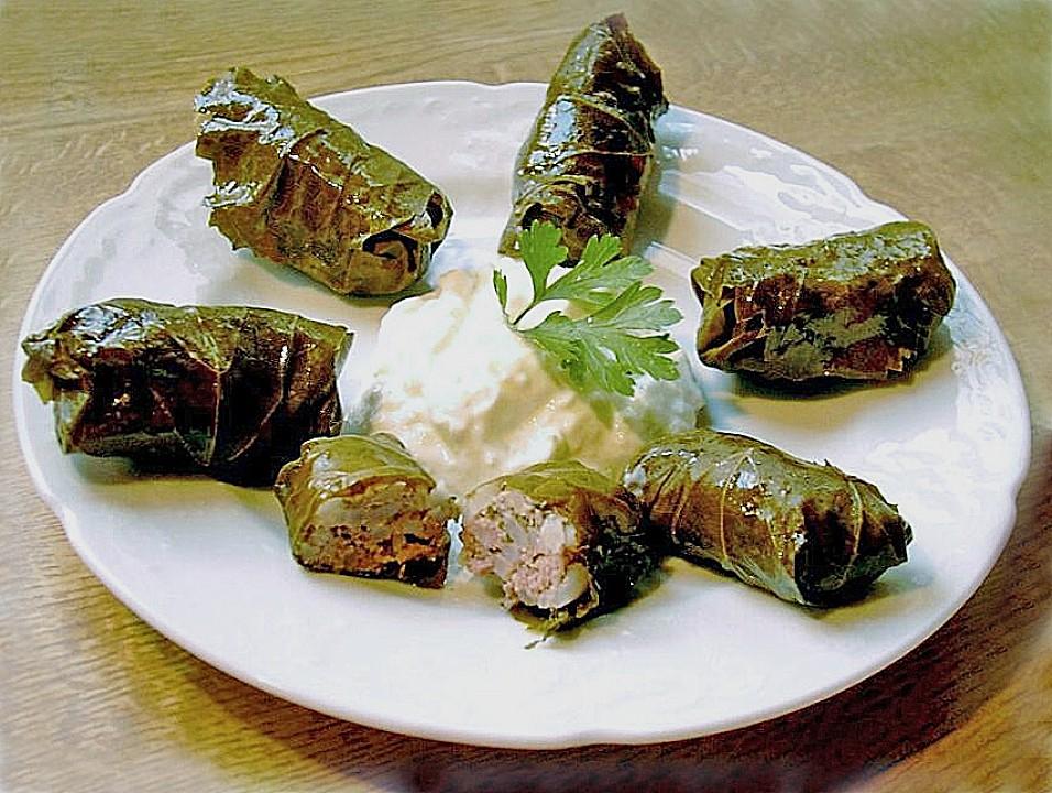Griechische rezepte gefullte weinblatter
