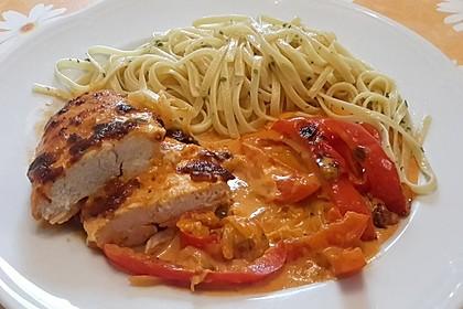 Paprika-Sahne-Hähnchen 10