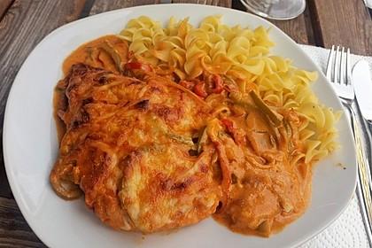 Paprika-Sahne-Hähnchen 16