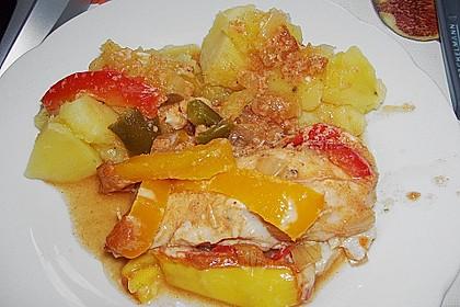 Paprika-Sahne-Hähnchen 109