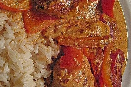 Paprika-Sahne-Hähnchen 147