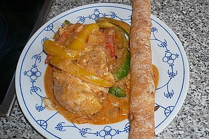 Paprika-Sahne-Hähnchen 90