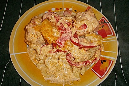 Paprika-Sahne-Hähnchen 120