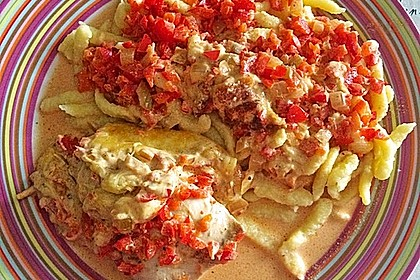 Paprika-Sahne-Hähnchen 77