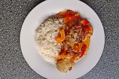 Paprika-Sahne-Hähnchen 13