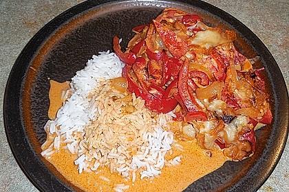 Paprika-Sahne-Hähnchen 169