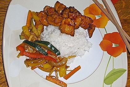 Asiatische Hähnchennuggets mit Gemüse 2