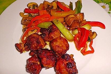 Asiatische Hähnchennuggets mit Gemüse 1