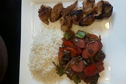 Asiatische Hähnchennuggets mit Gemüse 5