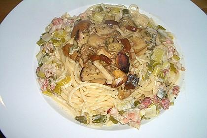 Spaghetti mit Steinpilzen 5