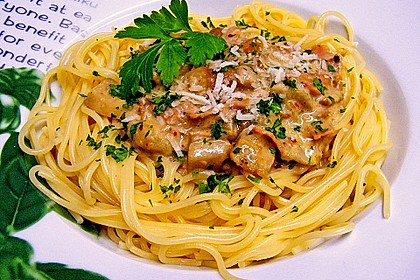 Spaghetti mit Steinpilzen