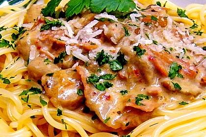 Spaghetti mit Steinpilzen 1