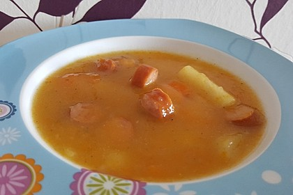 Kohlrabicremesuppe mit Fleischklößchen 22