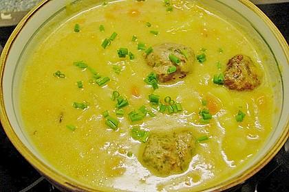 Kohlrabicremesuppe mit Fleischklößchen 34