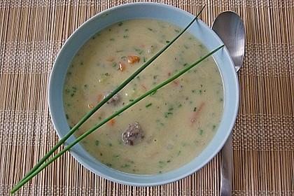 Kohlrabicremesuppe mit Fleischklößchen 7