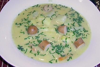 Kohlrabicremesuppe mit Fleischklößchen 35