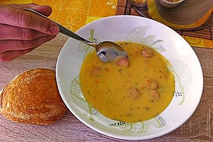 Kohlrabicremesuppe mit Fleischklößchen 38