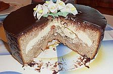 Schokoladenkuchen mit Quarkcreme