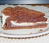 Schokoladenkuchen mit Quarkcreme (Bild)