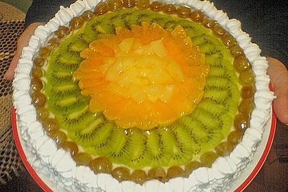 Joghurt-Sahne-Torte mit Früchten 9