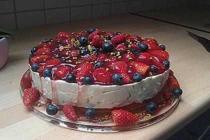 Joghurt-Sahne-Torte mit Früchten 0
