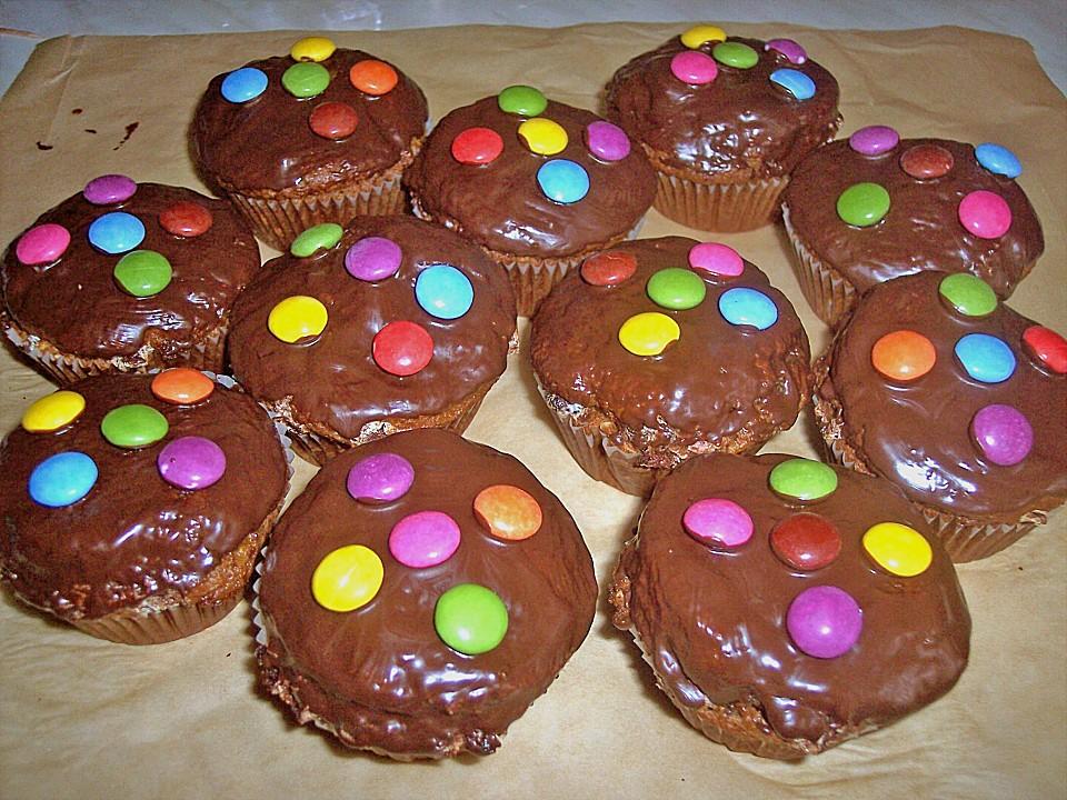 smarties muffins rezept mit bild von floh. Black Bedroom Furniture Sets. Home Design Ideas