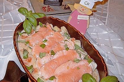 Fischfilet mit Räucherlachs