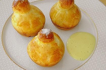 Mini-Brioches mit Bier-Karamell-Sauce