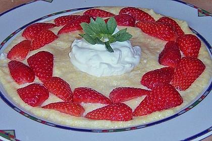 Maisgrießflammeri mit Erdbeeren 1